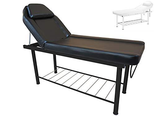 Polironeshop APOLLO lettino in acciaio per massaggi centro estetico tattoo (Nero)