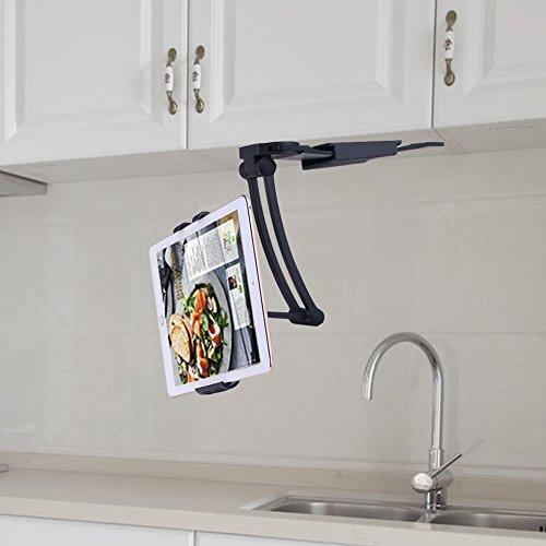 ACTOPP Küche Tablet Halterung Tablet Tischständer 2 in 1 Wandhalterung Küche Halterung Tisch Ständer Wand Halter für Handy iPhone iPad Tablet und mehr 7 bis 10 Zoll Gerät (Wand-tablet-halter)