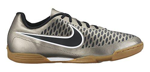 Nike - Jr. Magista Ola IC, Scarpe da calcio Unisex – Bambini L'oro / nero / verde / bianco (MTLC Pewter / Ghst Grn-BLK-White)
