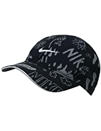 c5650f09 Nike Feather Light Adjustable Closure Graphic Baseball Grey/Black Golf Cap  (AV7772-010