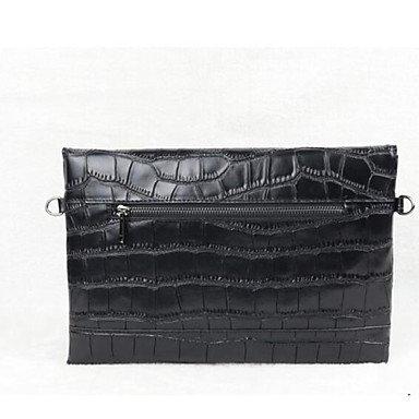 SUNNY KEY-Borsa a tracolla @ Donna Borsa a tracolla Vacchetta Per tutte le stagioni Casual Rotondi Con fermaglio Nero Rosso , black black