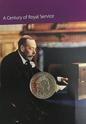 2017House of Windsor £5Unzirkulierte Münze Royal Mint Karte -