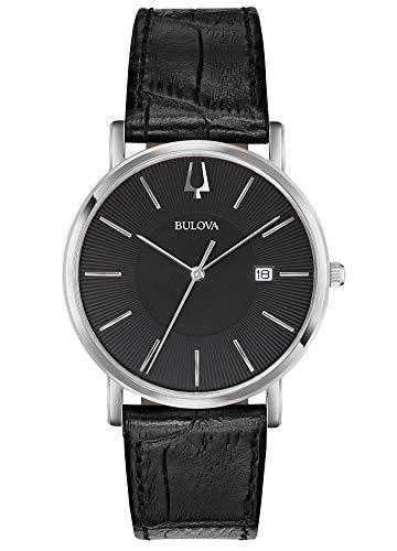 Bulova Reloj Analógico para Hombre de Cuarzo con Correa en Cuero 96B283