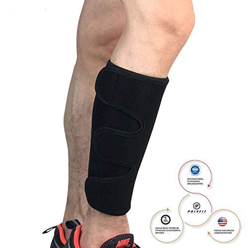 Privfit Calf Brace Shin Splint Compression Lower Leg Wrap Support for Torn Calf Muscle, Strain, Sprain, Pain Relief, Tennis Leg, Injury for Men and Women