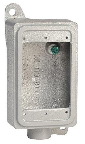 Appleton FD-1-50L Cast Device Box with Lugs, FD, 1 Gang, Malleable Iron, Deep, 1/2 Hub by Appleton (Cast Hub)
