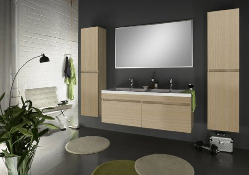 SAM-Badmbel-Set-Parma-4tlg-Komplettset-in-matter-Sonomaeiche-140-cm-breiter-Doppel-Waschplatz-Badezimmermbel-bestehend-aus-1-x-Spiegel-1-x-Doppel-Waschplatz-und-2-x-Hochschrank