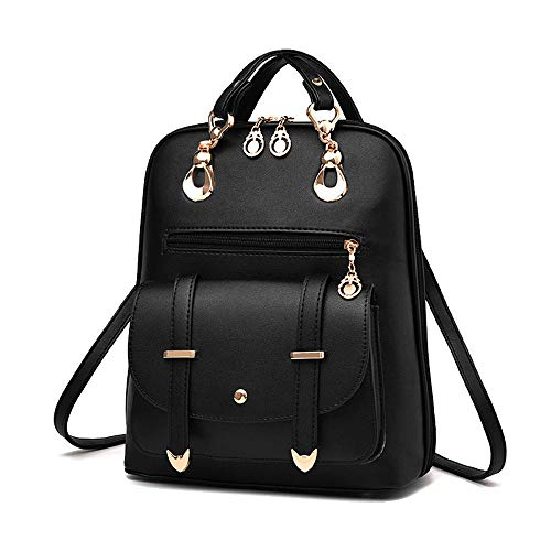 TnXan Women Fashion Backpack Women's Solid Color Backpacks Female Zipper Shoulder Bags Young Girl School Bags Bao -