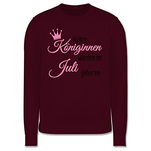 Geburtstag - Wahre Königinnen werden im Juli geboren - Herren Premium Pullover Burgundrot