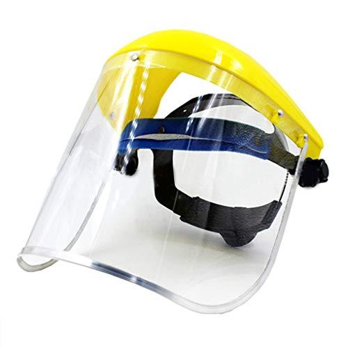 Pegcdu Seguridad careta protección PVC claro reemplazable