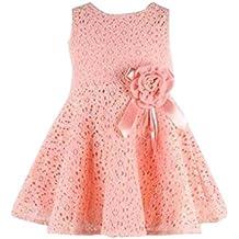 Conjunto de Bebé, ❤️Xinantime Vestido de una pieza de encaje floral de 1PC niñas