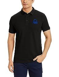 United Colors of Benetton Mens Cotton Polo (17P3D89J1240I_100_Black_EL)