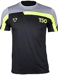 Jeansian Hombres Camiseta Deporte Delgado Tapas Men Quick-dry T-shirt Sport Slim Tops LSL135