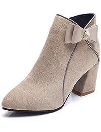Mujer Lazos Amazon Zapatos 36 es Botas Para Y qwfP8wU