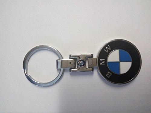 3D Metall Auto Logo Herren Outdoor chrom Belt Key kette Halter Schlüsselanhänger Schlüssel Ringe BMW von amazing K, chrome, BMW with one logo design (Geldbörse Leder-motorrad-kette)