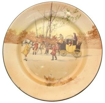 Series Ware Royal Doulton D2716Coaching Days Unscheduled Stop 26,7cm Platte CP2113 -