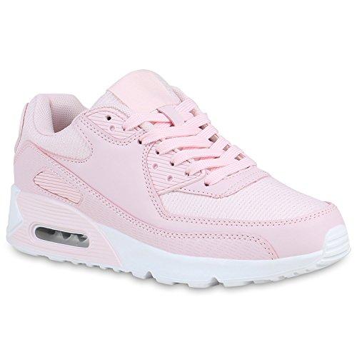 Damen Laufschuhe Glitzer Sportschuhe Profil Sohle Sneaker Schuhe 158514 Rosa 39 Flandell