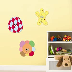 decofun in the night garden wall stickers foam amazon in the night garden bridge scene wall sticker pack