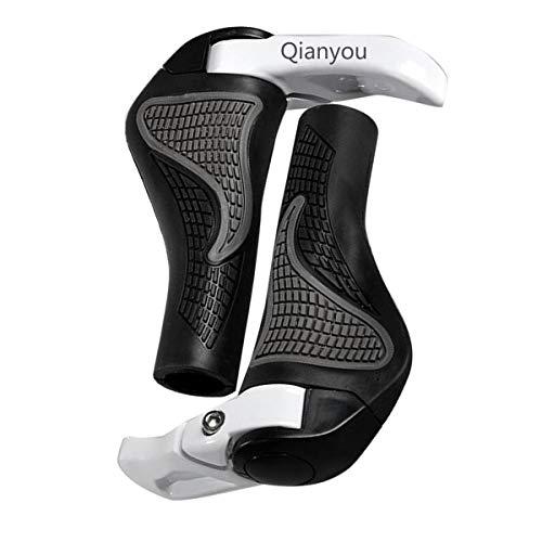 Qianyou 2 Stück Fahrradgriffe Lenkergriffe, Griffe Fahrrad Ergonomische Rutschfeste Gummi Weiche Handgriffe Universell Verwendbar für Fahrrad/Mountainbike/ Rennrad/Faltrad Schwarz und Weiß,(22mm) …