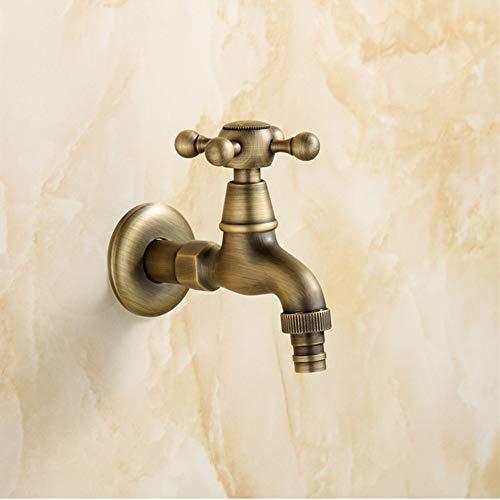 Preisvergleich Produktbild ChenYongPing Spültischarmatur Retro Waschen Einzigen Handgriff Antike Messing Antike Wasserhahn Bronze Wasserhahn In Der Wand (Farbe: A) (Farbe : Messing,  Größe : Free Size)