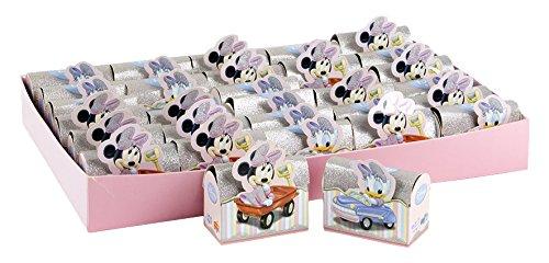 Carbomboniere car bomboniere walt disney babies astuccio portaconfetti, carta cartone, multicolore, 61x41x12 cm, 180 unità