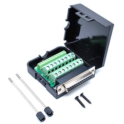 willwin DB25Männlich 25Pins Connector Adapter mit Mutter Terminal Breakout Board Frei Schweißen Female/with Screw -