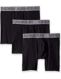 Under Armour Under Armour Cotton Stretch 6IN Boxer Short - 3 Pack - Negro / Negro / Negro 4XL para hombre