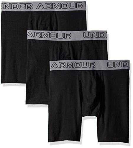 Cotton Stretch 6'' 3 Pack Unterhose, Black, L (Under Armour Boxer)