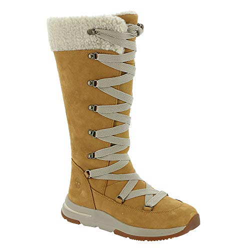 Timberland Mabel Town Tall Mukluk Waterproof Boot Wheat Nubuck 8.5