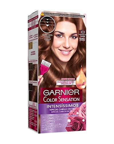 Garnier Color Sensation coloración permanente e intensa reutilizable con bol y pincel - C1 Toffee
