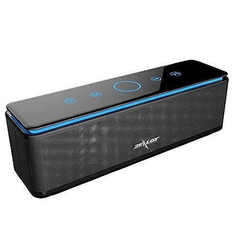 ZEALOT S7 Enceinte Bluetooth Portable Batterie Externe 10000mAh 26W 4 Haut-Parleurs 24 Heures d