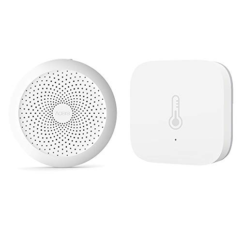 Aqara Smart Home 2 in 1 Kit, Aqara WiFi Remote Control Multifunctional Gateway, Aqara Temperature Humidity Sensor, mit Mijia App und Apple Homekit -