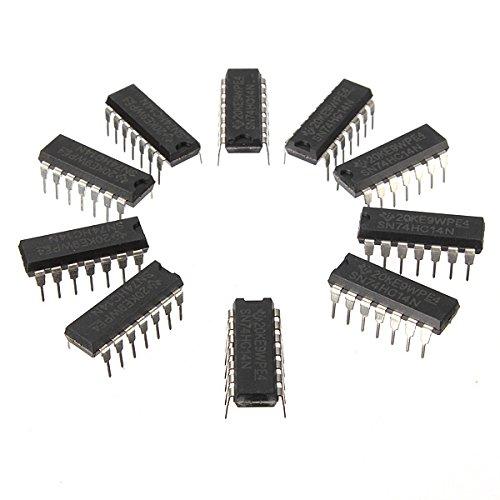 Bluelover 10Pcs SN74HC14N 74HC14 IC Chip DIP-14 Sechs Invertierender Schmitt Trigger