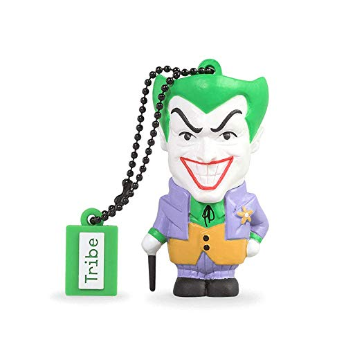 Tribe Warner Bros DC Comics Joker - Memoria USB 2.0 de 16 GB Pendrive Flash Drive de Goma con Llavero