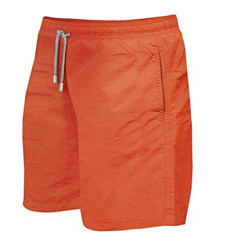 Herren Jungen Slim Fit Badeshorts | Badehose | verschiedenen Farben | Slimline | Männer Bademode Orange