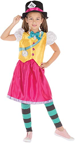 Fancy Me Mädchen Teens Bright Hatter Tea Party Alice im Wunderland World Book Day Week TV Film Film Karneval Kostüm Outfit 6-12 (World Book Week Kostüm)