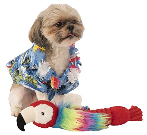 Rubie 's Offizielles largeulau Hemd und Hawaiianische Lei Pet Hund Kostüm (Hawaiianische Kostüm)