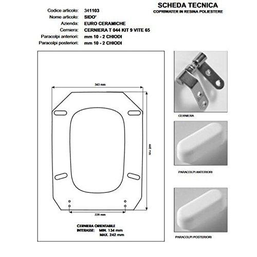 Preisvergleich Produktbild WC Sido 'MICAS weiß Reißverschluss chrom