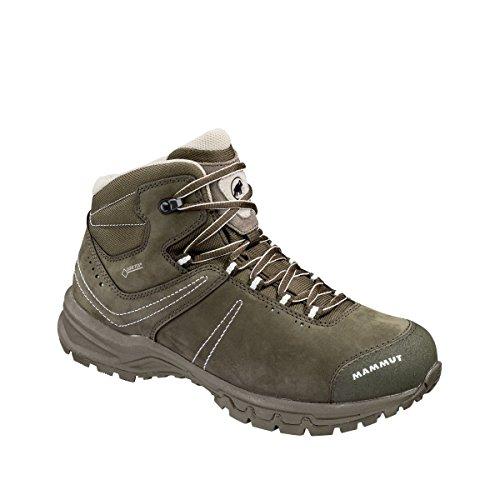 Damen Trekking- & Wander-Schuh Nova III Mid GTX, Grau (Bark-White), EU 38