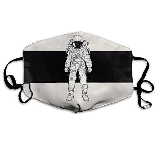 Vbnbvn Unisex Mundmaske,Wiederverwendbar Anti Staub Schutzhülle,Gesichtsmaske Coll Astronaut Anti Pollution Washable Reusable Mouth Masks for Man Woman Coll Box