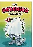 A4 XXL Abschiedskarte für Kollegen lustig & außergewöhnlich Alles Gute - mit Taschentuch