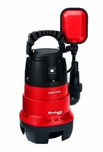 Einhell Pompe d'évacuation pour eaux chargées GH-DP 3730 (370 W, Débit max. 9.000 l/h, Hauteur de refoulement 5 m, Profondeur d'immersion 5 m, Hauteur d'aspiration 40 mm)