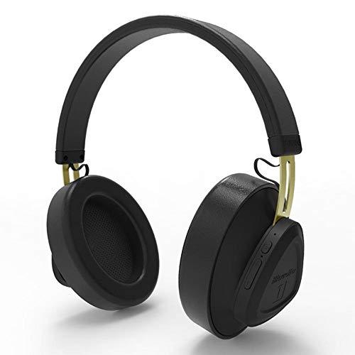 JAK0 Bluetooth Kopfhörer Über Ohr Mit Hallo-Fi Stereo Mic Drahtlosen Kopfhörern Mit Sprachsteuerung Bluetooth 5.0 Headset Für Telefone Und Musik, Reisen Und Arbeit,Schwarz