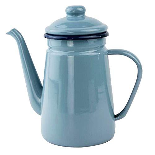Baoblaze Emaille Kaffeekanne, Teekanne Teekessel Wasser Kanne - typ 4