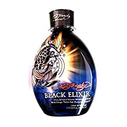 THE Best Tanning Lotion Ed Hardy Black Elixir Indoor Tanning Bed Lotion Bronzer w/ Tattoo Protection