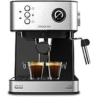Cecotec Cafetera Express Power Espresso Professionale para Espresso y Capuccino, de 20 Bares con Manómetro Medidor de Presión.