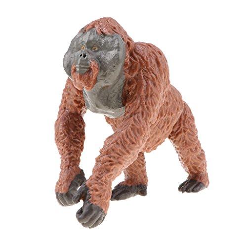 Unbekannt Wildes Tier Modell Figur Spielzeug Figurine Wohnkultur - Orang Utan (Spielzeug Hund Orang-utan)