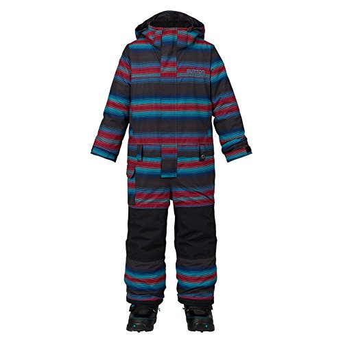Burton Jungen Minishred Striker One Piece Snowboardoverall, Seaside Stripe, 3T