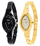 NUBELA Analogue Black and Gold Colour Women's Watch