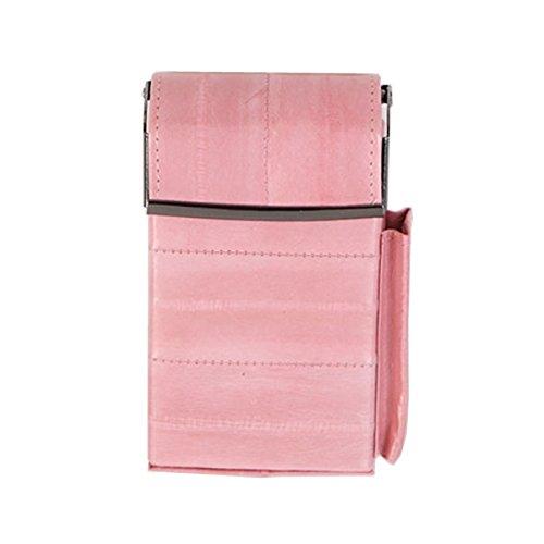 Portasigarette tascabile in vera pelle con chiusura a - Porta pacchetto sigarette amazon ...