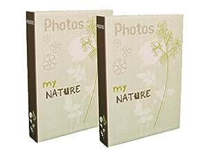 Lot de 2 albums photos My Nature à pochettes 10x15 pour 400 photos